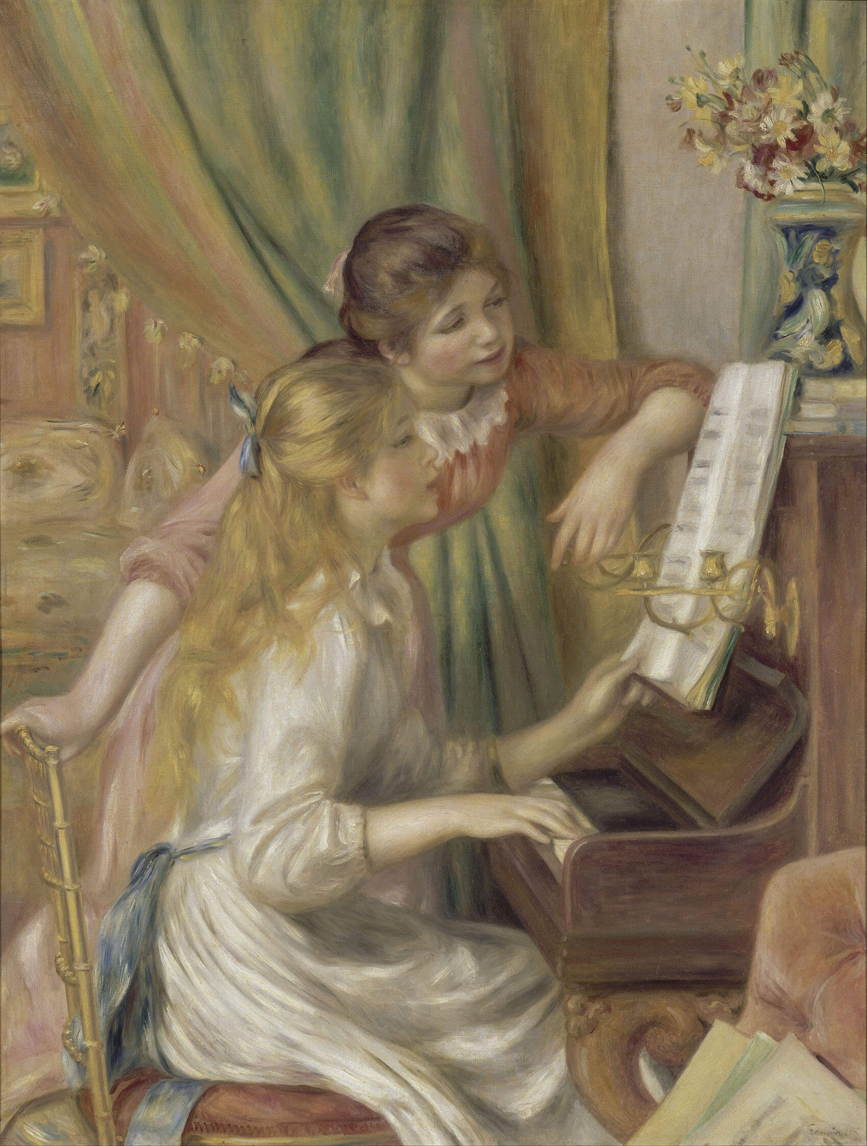 Pierre-August Renoir – Young Girls at The Piano