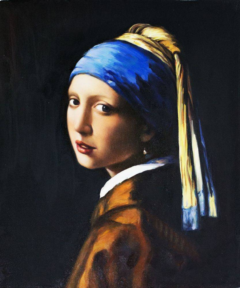 Girl with a pearls earring