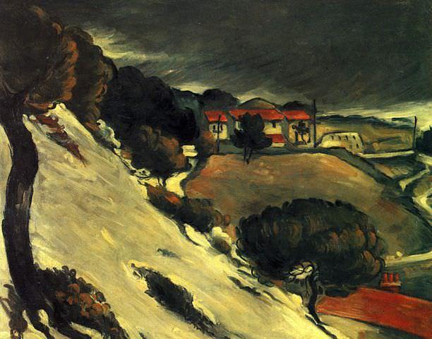Paul Cézanne – Lestaque-Melting-Snow