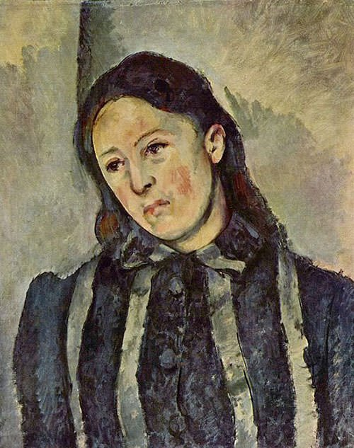 Paul Cézanne – Portrait-of-Madame-Cezanne-with-Loosened-Hair
