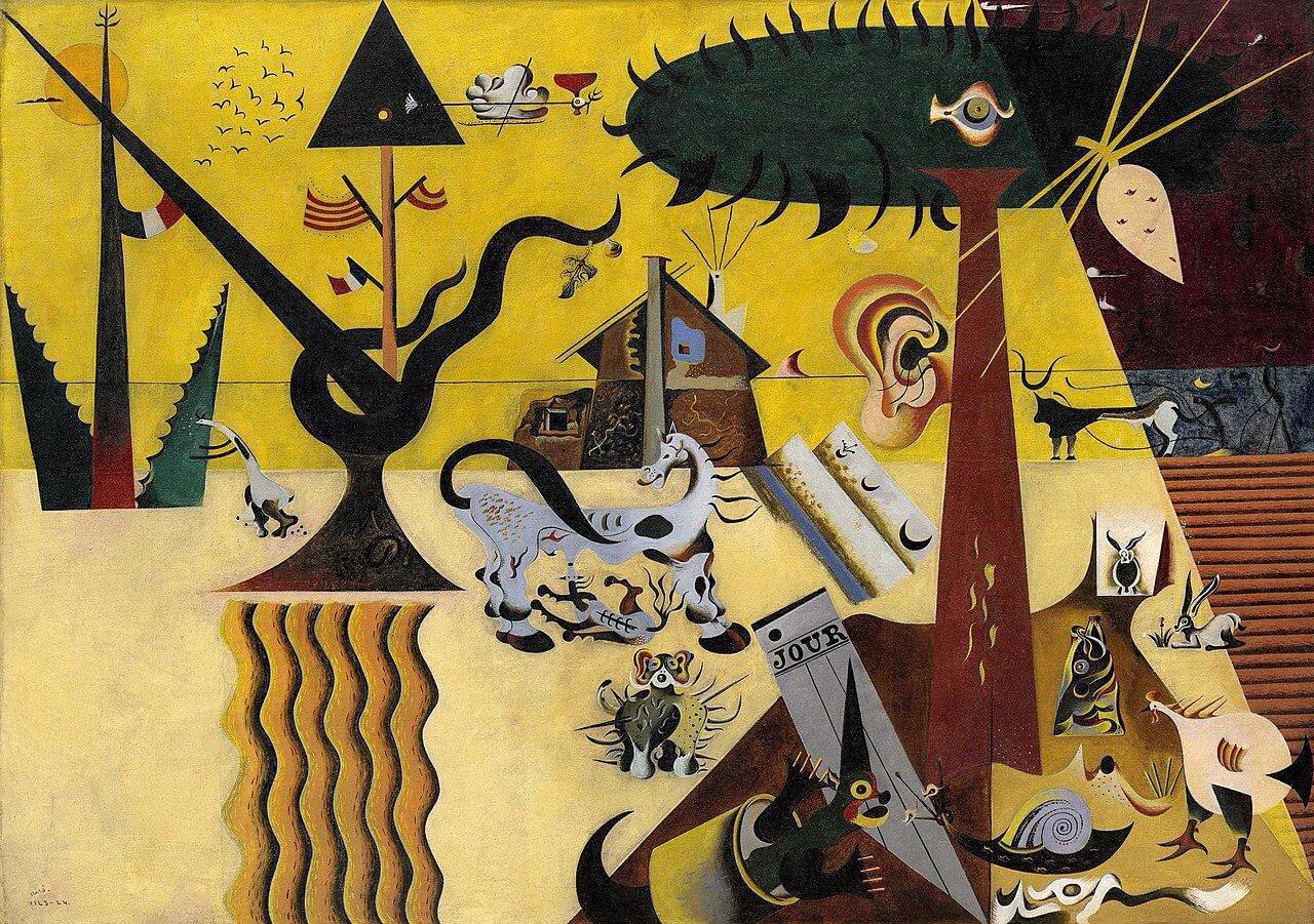 Joan Miro – THE TILLED FIELD
