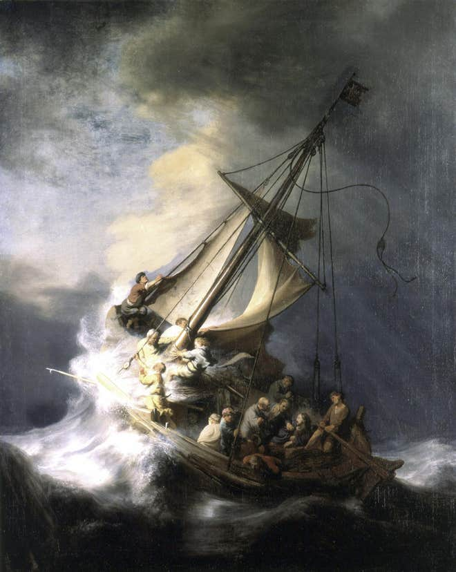 Rembrandt – The storm on the Sea of galilee