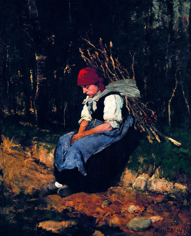 Munkácsy Mihály – a rőzsehordó nő