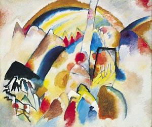 Wassily Kandinsky – landscape-with-red-spots