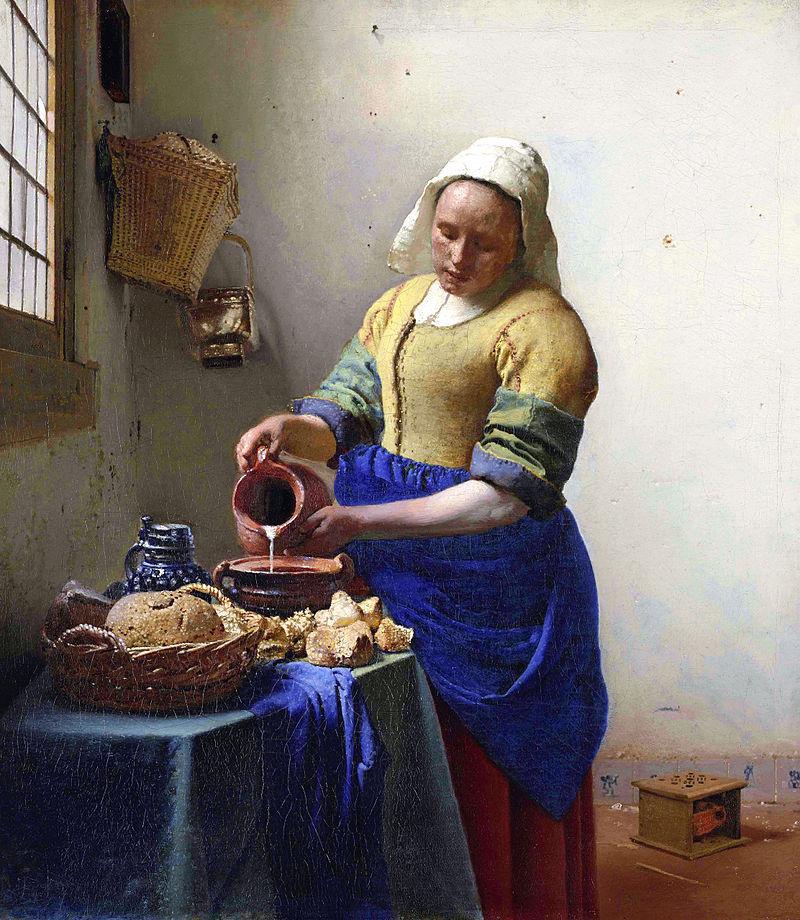 Jan Vermeer van Delft – the milkmaid