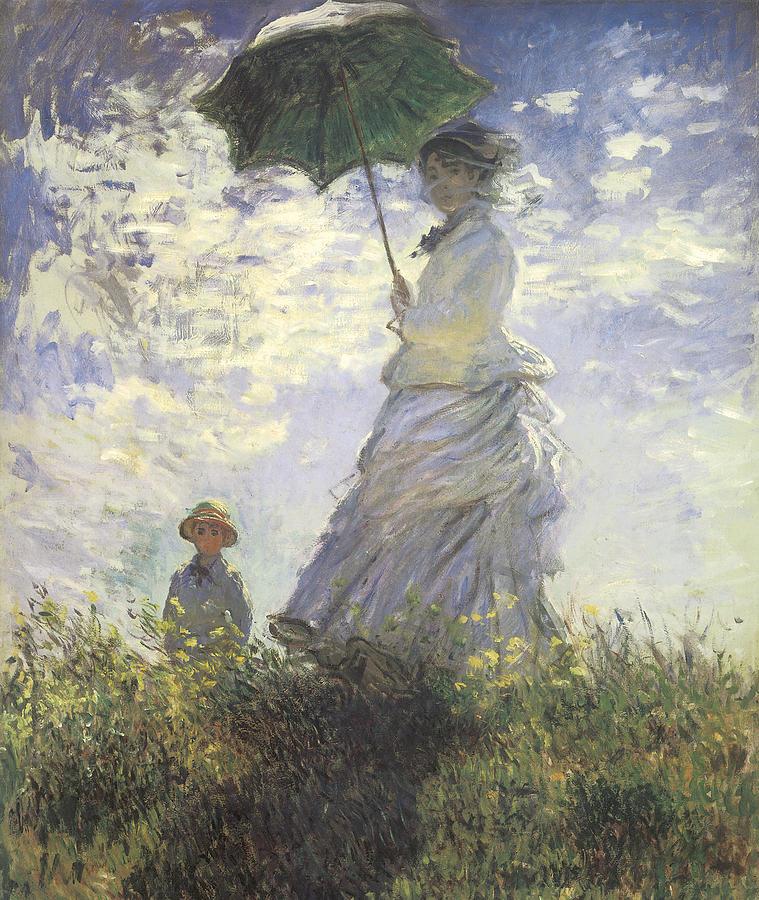 Claude Monet – woman with-a-parasol-claude-monet